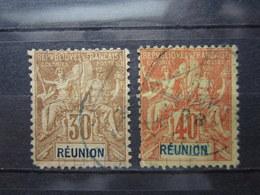 VEND TIMBRES DE LA REUNION N° 40 + 41 !!! - Reunion Island (1852-1975)