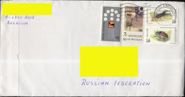 2009. Adressed Cover From  Belgium To Russia - 4 Stamps - Belgium