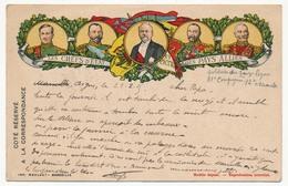 """CP De Franchise Militaire, édition Privée, """"Les Chefs D'Etat Des Pays Alliés"""" Depuis Digne - 1915 - Marcophilie (Lettres)"""
