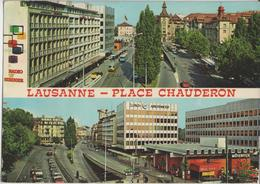 Lausanne - Place Chauderon, Radio TV Steiner, Zürich Assurances, Mövenpick - Photo: Francis Jaeger - VD Waadt
