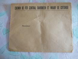AFRIQUE De L'OUEST : Enveloppe Vierge - CHEMIN DE FER CENTRAL DAHOMEEN ET WHARF DE COTONOU - Other