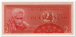 INDONESIA,2 1/2 RUPIAH,1956,P.75,UNC - Indonesia