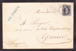 EXTRA-18-07- 56 COVER SEND FROM PATRA, GREECE TO GENEVE, SWISS. - 1886-1901 Petits Hermes