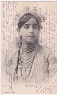 """JUDAICA . ALGERIE ALGER . Belle (""""Fatma"""") JUIVE (Costume, Bijoux & Coiffure Typiques Juives D'Alger) Phot. J. GEISER - Judaisme"""