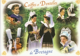 CP 56 France - Coiffes Et Dentelles De Bretagne - Costumes