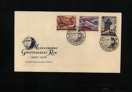 Czechoslovakia 1958 International Geophysical Year FDC - International Geophysical Year