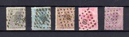 1865-66   Belgique, Roi Léopold 1er, 17 / 21 Ø, Cote 219 €, - 1865-1866 Profil Gauche
