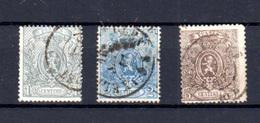 1867   Belgique, Petit Lion Dentelé, 23 / 25 Ob, Cote 240 €, - 1865-1866 Profil Gauche