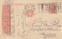 PALERMO _ 1924 /  MESSINA - Card _ Cartolina Pubblicitaria  Da Centesimi 30 - Storia Postale