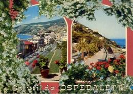 Saluti Da Ospedaletti - Scorcio Panoramico A Ponente - Formato Grande Viaggiata – E 7 - Imperia