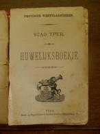 Trouwboekje    1901   Der Stad  YPER - Mariage
