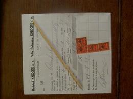 BADSTAD  KNOCKE      Verblijftaks  1931 - Cachets Généralité