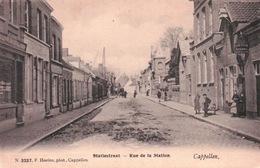 CPA BELGIQUE CAPPELLEN STATIESTRAAT Rue De La Station - Kapellen