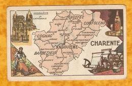 CHROMO IMAGE CHOCOLAT TURENNE DÉPARTEMENT DES CHARENTE ( 16 ) - ANGOULEME CONFOLENS BARBEZIEUX COGNAC RUFFEC - Autres