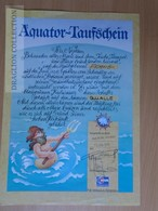 DC63.1  Aquator -Taufschein - Passing The Equator Document - 1978 - T.S. Maxim Gorki Cruiser - Transportation Tickets