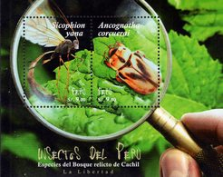 Peru - 2018 - Insects Of Peru - Mint Souvenir Sheet - Peru