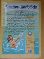 DC63.2  Aquator -Taufschein - Passing The Equator Document - 1978 - T.S. Maxim Gorki Cruiser - Transportation Tickets