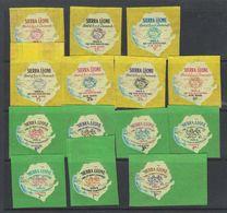 Sierra Leone 1965 New York's Woirld Fair 14v Self Adhevise Stamps ** Mnh (39774) - Sierra Leone (1961-...)