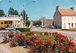 """21 - Seurre : Rond Point Vers La Gare - Station Service """"Antar""""  - CPM écrite - Autres Communes"""