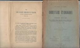 ( Nantes - Patrimoine ) Baron Gaëtan De Wismes Commentaire Etymologique - Renouard De Villayer Académicien - Livres, BD, Revues