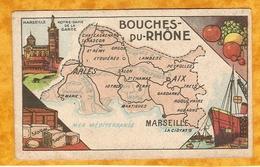 CHROMO IMAGE CHOCOLAT TURENNE DÉPARTEMENT BOUCHES DU RHONE ( 13 ) - MARSEILLE AIX ARLES LA CIOTAT LAMBESC - Autres