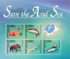 Kyrgyzstan 1996 Fauna Of Aral Sea. Joint Issue. M/S** - Kyrgyzstan