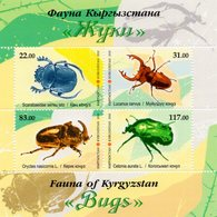 Kyrgyzstan 2018 Fauna. Insects. Bugs. M/S** - Kyrgyzstan