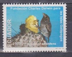 ECUADOR 1999 40TH ANNIVERSARY OF CHARLES DARWIN FOUNDATION GALAPAGOS CACTUS PINZON MNH SC# 1492j. - Ecuador