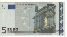 "5 EURO  ""N""  Austria   Firma Duisenberg     F 001 I5  /  Circulated - EURO"