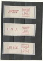 TIMBRES DISTRIBUTEUR N° 31/32/34  3 VALEURS TARIF POSTAL DU 01/09/1981  TYPE 4  LS08/75628 Rue Des écoles  COTE 68euros - 1981-84 LS & LSA Prototypes