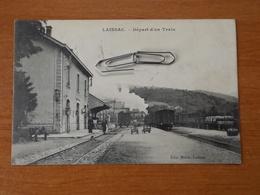 LAISSAC DEPART D UN TRAIN CANTON LOT ET PALANGES - Altri Comuni
