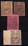 EL SALVADOR - 1917 & 1918  - Timbres Municipal - Revenues - Salvador