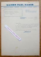 Articles De Ménage, Jouets, Porcelaines, Maison Paul Mamer, Rue Du Fossé, Luxembourg 1947 - Lussemburgo