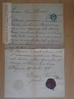 DC49.2 Old Document Kaposvár -Hungary - 1876 - Natalia Kriszt -Georgius Komesz - Unclassified
