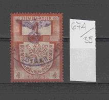 35K674 / 1939 - STEMPEL KOLEK 4 Kcs. REPUBLIKA CESKOSLOVENSKA , Revenue Fiscaux   Czechoslovakia Tchecoslovaquie - Tsjechoslowakije