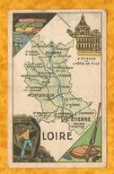 CHROMO IMAGE CHOCOLAT TURENNE DÉPARTEMENT LOIRE ( 42 ) - St ÉTIENNE MONTBRISON ROANNE St GALMIER - Autres