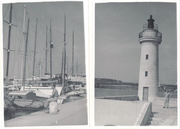 2 Photos – Antibes 1951, Phare, Port - Lieux