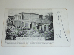 TURQUIE, LE KEGELCLUB ALLEMAND LE JOUR SUIVANT LA CATASTROPHE DE LA BANQUE IMP. OTTOMANE... - EUROPE (AB) - Turquie