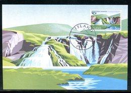 Islande - Carte Maximum 1983 - Cascades Urrioafossar - Cartoline Maximum