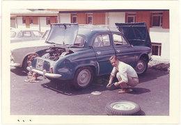 Photo Automobile, Renault Dauphine, Gourette 1965 - Automobiles