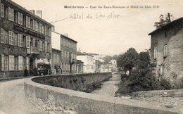 CPA - MONTBRISON (42) - Aspect De L'Hôtel Du Lion D'Or Au Bord Du Quai Des Eaux-Minérales En 1924 - Montbrison