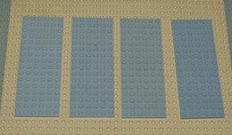 Légo Lot 4 X Plate 6x16 Grise Ref 3027 - Lego Technic