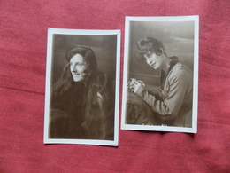 UNKNOWN PEOPLE: GIRL With Long Hair X2 RP Sepia 1920 East London - Other
