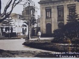 CPA Carte Postale Postcard - Brasil Brazil - CAMPINAS - 1923 RPPC Largo De Theatro - Brésil