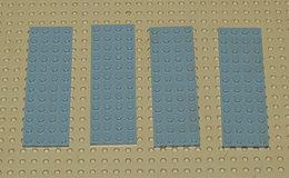 Légo Lot 4 X Plate 4x12 Grise Ref 3029 - Lego Technic