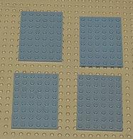 Légo Lot 4 X Plate 6x8 Grise Ref 3036 - Lego Technic