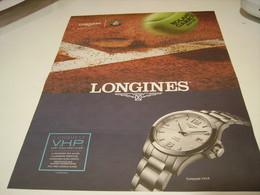 PUBLICITE AFFICHE MONTRE LONGINES ROLAND GARROS 2018 - Jewels & Clocks