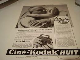 ANCIENNE AFFICHE  PUBLICITE LE MEILLEUR  FILM CINE-KODAK HUIT 1939 - Photography