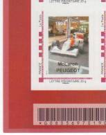 Doubs  -  Sochaux   - Peugeot   Mac Laren - Peugeot 1994 - Gepersonaliseerde Postzegels (MonTimbraMoi)
