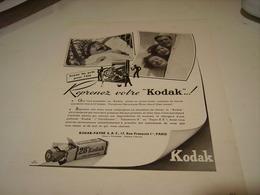 ANCIENNE PUBLICITE REPRENEZ VOTRE KODAK 1946 - Photography